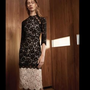 New alexis whitney black and white lace  dress